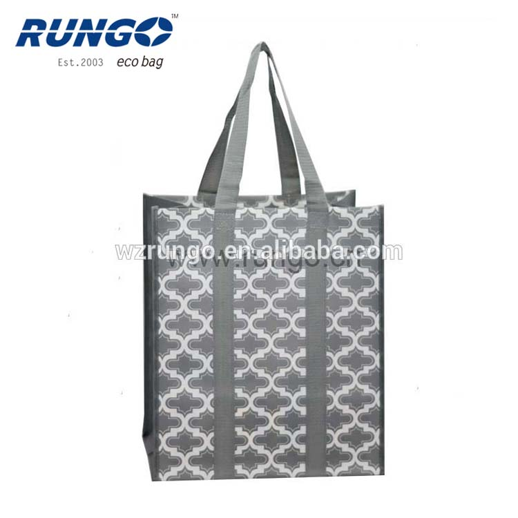 USA reusable custom tote pp shopping bag with reinforced handles