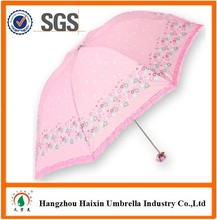 High Quanlity China Lace Parasols for Sale Ladies Sun Umbrella 3 Fold