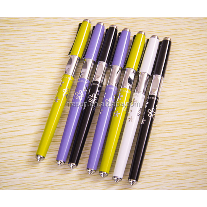 Pen barrel color and logo customized good quality student training fountain pen