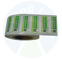 Customized Adhesive Paper Printed Electronic Labels Sticker Roll with QR Code