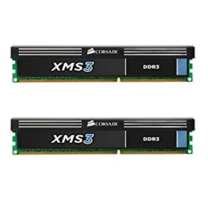 Corsair XMS3 8GB (2x4GB) DDR3 1600 MHz (PC3 12800) Desktop Memory 1.65V