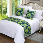 Hotel Bedding Set queen size 100% Cotton Cushion Cover and Hotel Bed Runners