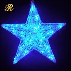 Fairy led star light up ornament for holiday christmas decoration
