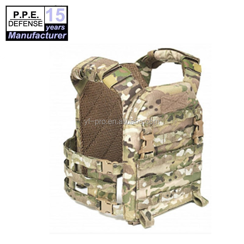 Quick release camouflage molle niveau IIIA CP body armor