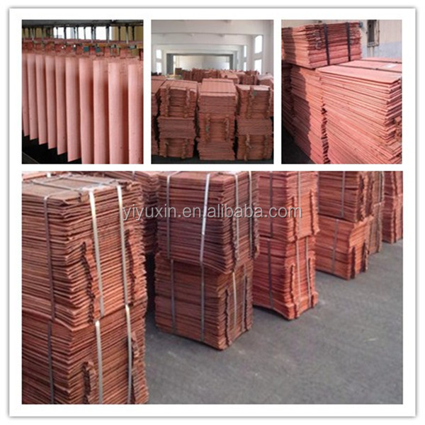Copper Cathodes Pure Grade Copper Cathode 9999
