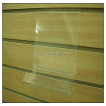 Factory price customized clear wall mounted acrylic book shelf