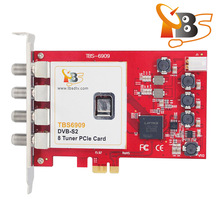 TBS 6909 DVB-S2 8 Tuner PCIe Card digitale 4 K satellietontvanger <span class=keywords><strong>IPTV</strong></span> streaming card FTA HD satelliet tuner <span class=keywords><strong>ontvanger</strong></span>