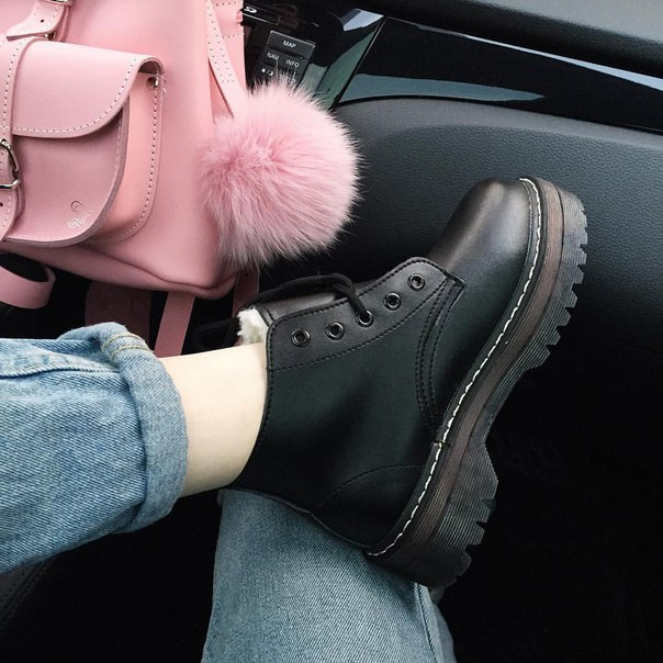 2016 осень и зима хлопок-ватник туфли на платформе мода черный старинный  шнуровкой женские сапоги плоским пятки мартин сапоги женские d12dc211fd357