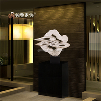 Branded factory direct manufacture resin crafts irregular wind shape statue for home decor