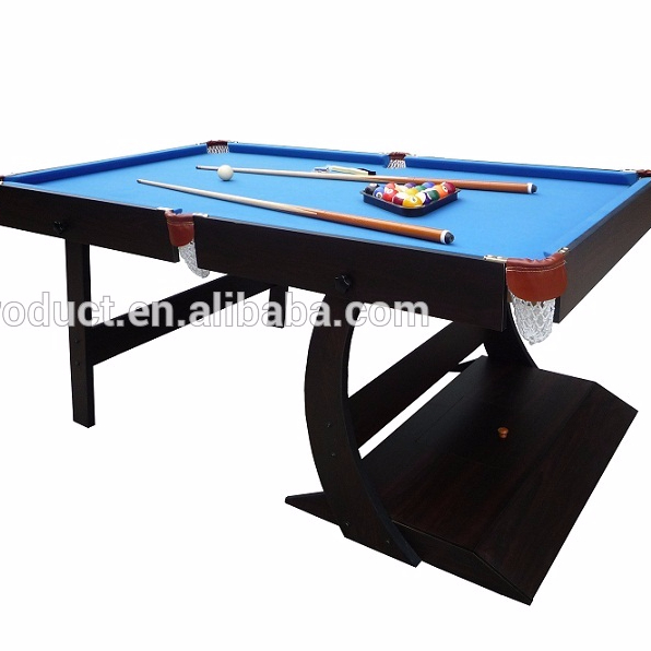 Folding Playing 6ft Billiards Pool Table, billiard table game manufacture