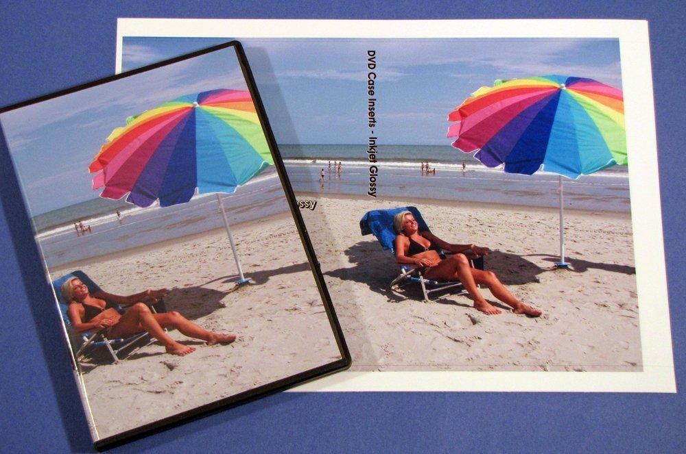 DVD Case Inserts Glossy A4 Size Inkjet or Laser 25 Sheets A4JG1034-25