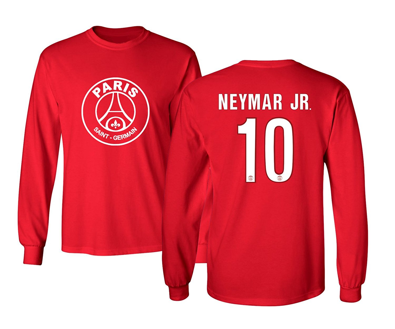 aa2b9e205 Get Quotations · PSG Paris Saint-Germain  10 NEYMAR Jr. Jersey Shirt Soccer  Football Men s Long