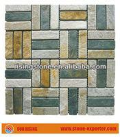 Slate mosaic tiles wall