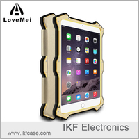 LOVE MEI MK2 Brand New Case For iPad Mini 2 3 Luxury Metal Silicon Case+Genuine Flip Leather Cover for Apple iPad Mini 4