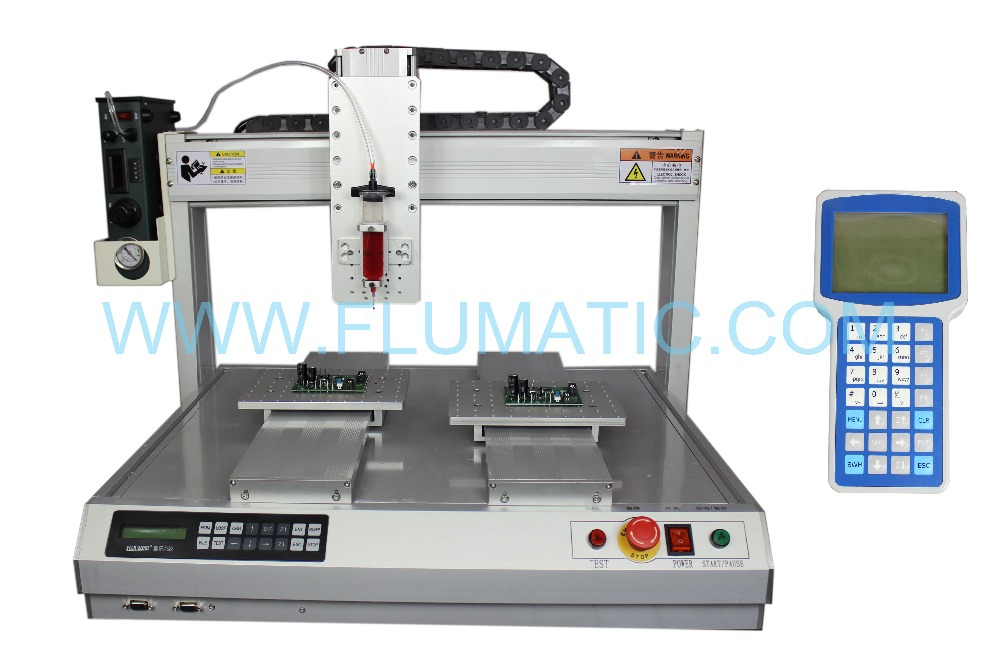 Benchtop Standard Automatic Dispensing Robots glue dispensing Dual Station manufacturers with dual table station