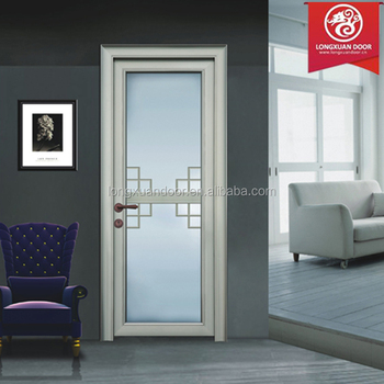 quality soundproof aluminium or wood frame glass living room doors single swing doors