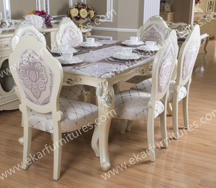 Marble Top White Malaysia Dining Table Design