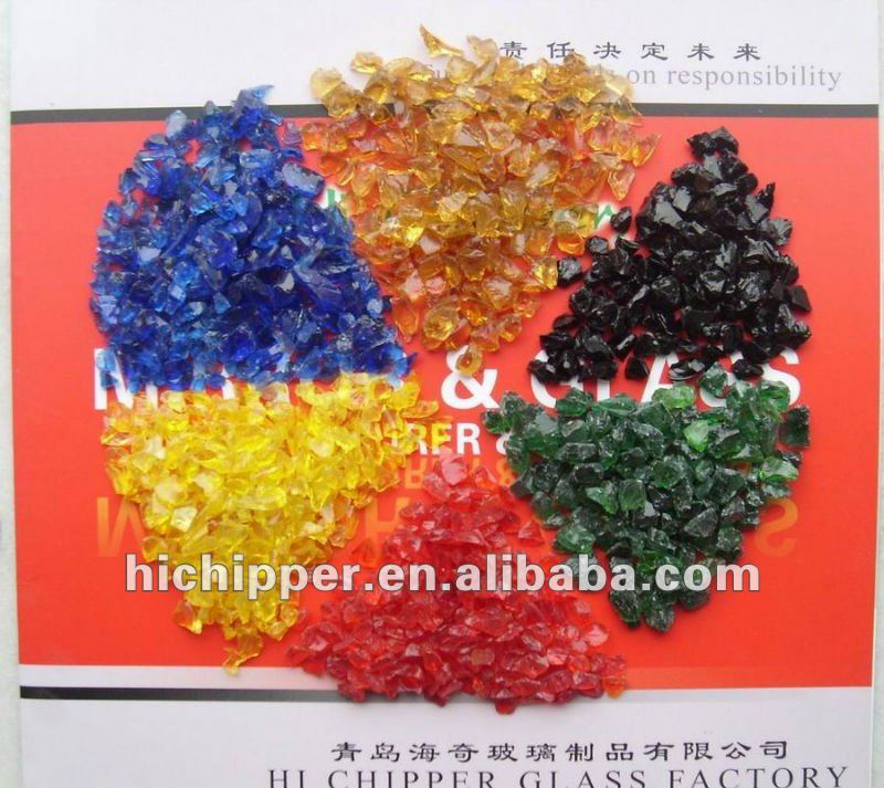 Colorful Decorative Crushed Glass