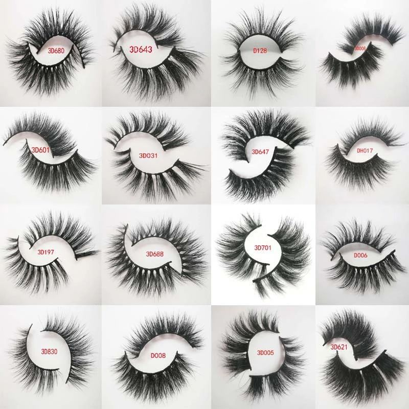 3D mink cílios Private Label 100% real mink LASHES travessia tira vison cílios grossos cílios postiços lashes 3D L10