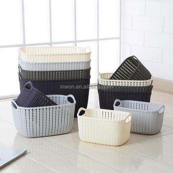 woven picnic plastic sqaure storage basket with handle & Woven Picnic Plastic Sqaure Storage Basket With Handle - Buy Plastic ...