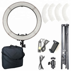 "camera photo/video 18"" 5600k dimmable led photography selfie ring light for live show"