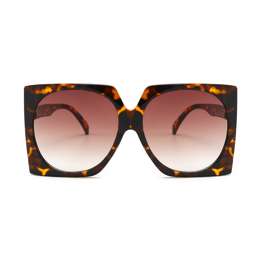 24237 Superhot Eyewear 2019 Square Fashion Oversized Leopard Women Sunglasses