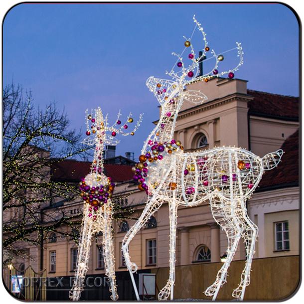 verlichte rendier outdoor rendieren voor kerst