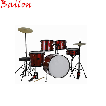 Adult 5 Piece Drum Set With Cymbals Stands Stool and Stick