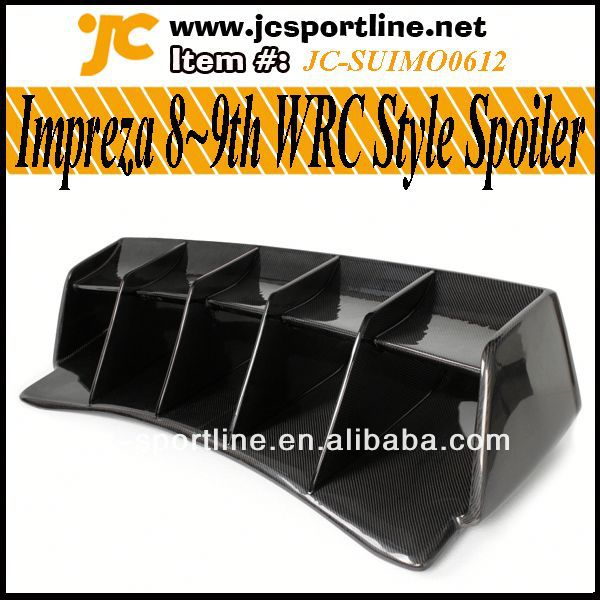 WRX 8th 9th WRC Style Carbon Fibre Spoilers For Subaru Impreza 8 9th