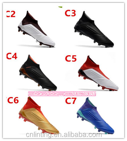 2019 China manufacturer PU outdoor men sport soccer football spike shoes