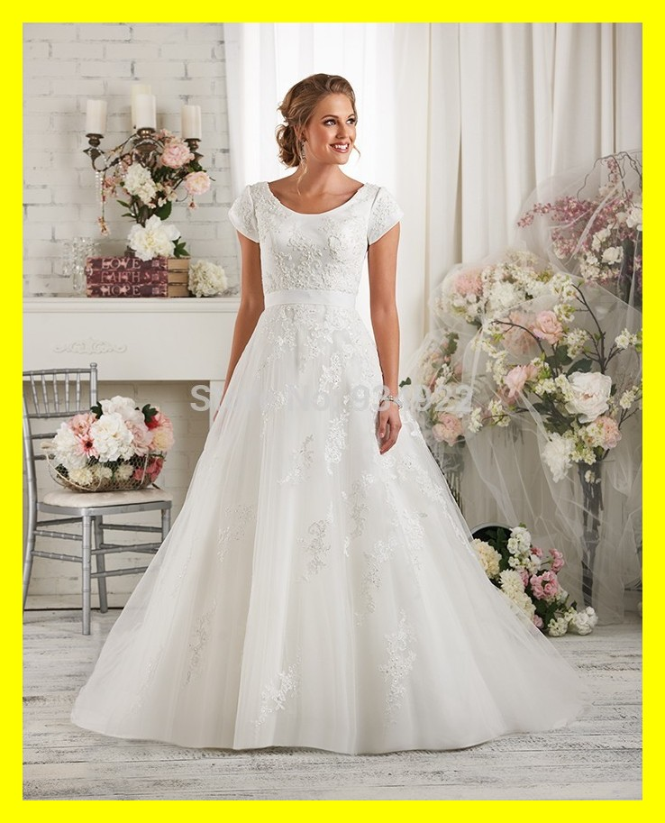 Short-Vintage-Wedding-Dresses-Modest-With-Sleeves-Cheap