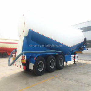 China tri-axle 30tons 50tons 40 tons 60tons 80tons dry bulk cement tanker trailer truck for fly ash transport