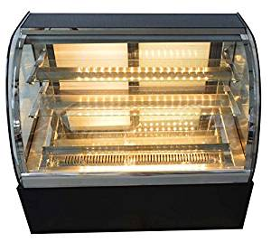 New Countertop Refrigerated Cake Showcase 220V Commercial Diamond Glass Display(Item#210075)
