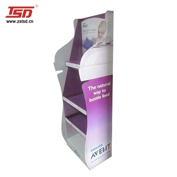 TSD-A724 Custom wholesale plastic baby products display stand,milk bottle display rack,baby shop display