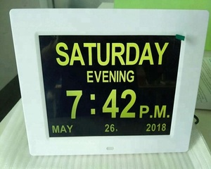 Hot sell 7/8/10.1/12 memory loss digital calendar day clock australia