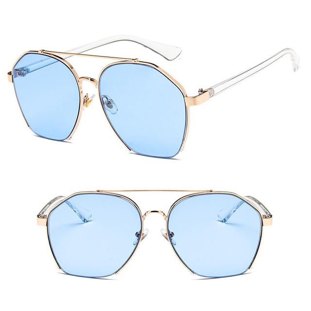 DLL6225 Clear Ocean Lens Polygon Irregular Fashion Sunglasses
