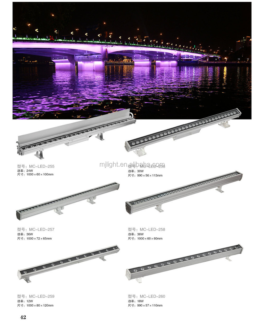 2018 High Quality IP65 Waterproof RGB LED Wall Washer Light