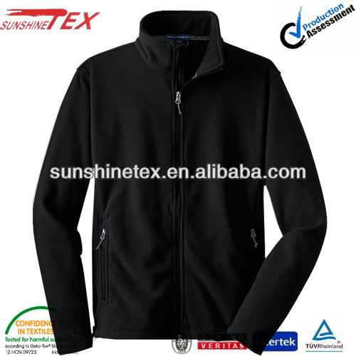 Black security fleece varsity jacket
