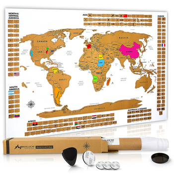 Premium Scratch Off World Map Poster Large World Map With Defined United  States Country Flags - Buy Premium Scratch Off World Map Poster Large World  ...