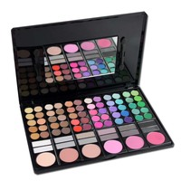 New Wholesale Makeup Kits 78 Color Eyeshadow + Blush Cosmetic Sets Color Works Makeup