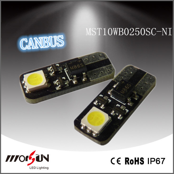 New Design samsung best w5w t10 canbus led 2smd Car Interior Side Wedge License Tail Led Light Lamp bulb Error Free