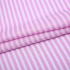 New style challi woven printed pink and white stripe woven 50 cotton 50 viscose fabric