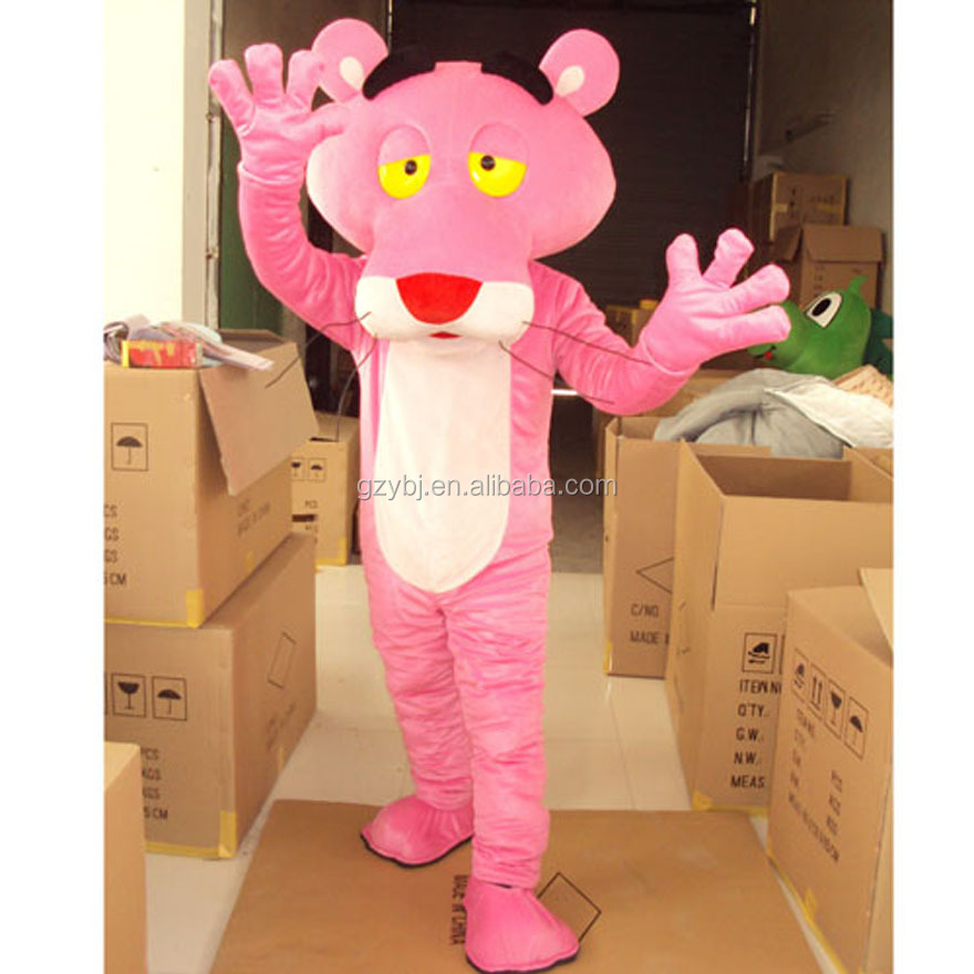 Direct factory manufacture customized pink panther costumes