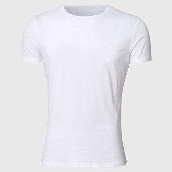 b64faf5b664 ATSC012 Men White T Shirts Short Sleeve Basic Tee Shirts Summer Slim Fit  Tops Plain Classic
