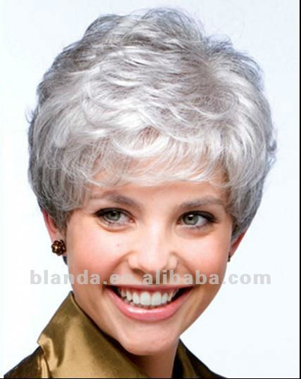White Human Hair Short Curly Lace Wig - Buy India Hair Kinky Curly Lace Wigs da11b01d7ec3