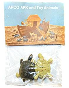 ARCO Noah's Ark Turtles / Tortoises Plastic Toys on Card NOS