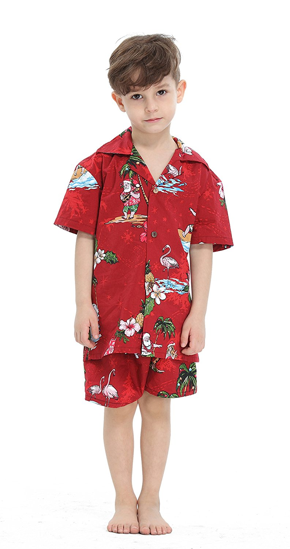 fd6d00cf9 Get Quotations · Hawaii Hangover Boy Aloha Luau Shirt Christmas Shirt  Cabana Set in Red Santa