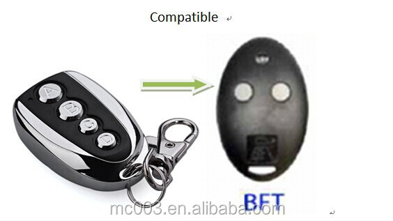 433 transmitter keyfob for BFT Mitto 2 or 4 , rf transmitter and emitter