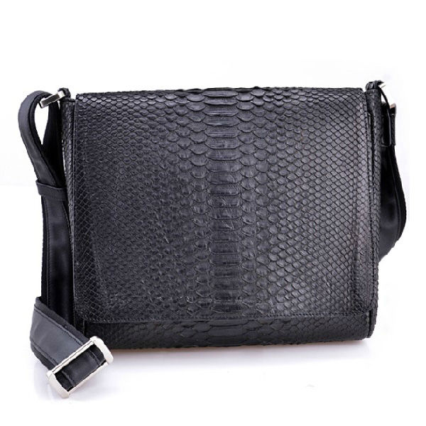 Genuine Leather Shoulder Bag Real Python Snake Skin Messenger men handbag
