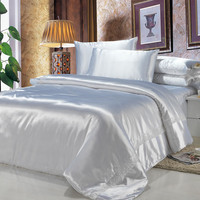 5 Star hotel cheap bed sheet sets satin jacquard bamboo bedding sheets